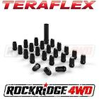 Teraflex Spline Drive Lug Nut Kit 1 2x20 Black 23 pcs w Key Jeep JK TJ YJ CJ