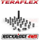 Teraflex Spline Drive Lug Nut Kit 1 2x20 Chrome 23 pcs Jeep JK TJ YJ CJ SUV