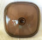 Pyrex #A-12-C Domed Smoked Glass Lid Only Square 10 3/8