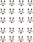 Cat Face Waterslide Nail Decals Nail art