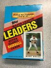 1986 Topps Major League Leaders Baseball Box 36 Packs