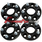 4PC 20mm 5x45 Black Hubcentric Wheel Spacers Adapters 12x15 Studs for Hyundai