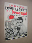 LIFE IS A DREAM 1931 VINTAGE SHEET MUSIC SCORE FROM THE FILM THE PRODIGAL