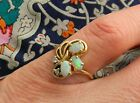 Natural Opal Ring Diamond Accents 14 K Gold