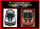 CHEVY CAMARO SS RACING STRIPES 2010 2013 DECALS FACTORY STRIPE