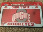 Ohio State Buckeyes License Plate Frame + Metal Plate USA MADE Gift Set