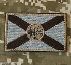 FLORIDA STATE FLAG USA ARMY MORALE DESERT BADGE VELCRO BRAND FASTENER PATCH