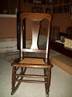 Antique Rocking Chair Cane Seat Early 1900s 36