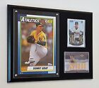 SONNY GRAY CARDS & TOPPS 5X7 WALL ART DISPLAYED ON A 9X12 PLAQUE A'S RC & RELIC