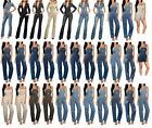 Womens Stretch Denim Overall Jumpsuit Catsuit