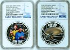 2 COIN Set 2016 Star Trek Captain James Spock USS Enterprise Silver 1 NGC PF69