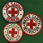 BOY AND GIRL SCOUT THREE RED CROSS PATCHES