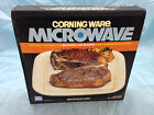 Corning Ware Microwave Browning Grill in Org Box White Plate  {AG}