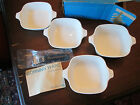 LOT of 5! Vintage CORNING WARE: BLUE CORNFLOWER pattern: PETITE PANS w/HANDLE!