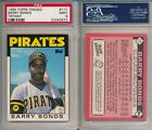Barry Bonds Pirates 1986 Topps Traded TIFFANY #11T Rookie Card rC PSA 9 Mint