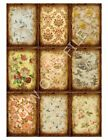 9 Grungy Floral Rustic Antiqued Vintage Hang Tags 44