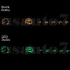 Dash Instrument Cluster Gauge Green LED LIGHT BULBS KIT Fits 87-95 Jeep Wrangler