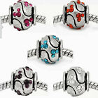 1 Blue Disney Mickey Mouse Spacers for European Bracelets