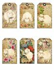 6 Vintage Lamb Hang Tags Scrapbooking Paper Crafts Jewelry Holders 11