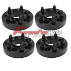 4PC 125 5x5 Black Hubcentric Wheel Spacers Adapters 1 2x20 Studs for Jeep JK