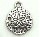 20 200 Pcs Tibetan silver Craft Starfish Jewelry sea urchin Charms DIY Pendants