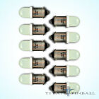 10 Pack 63 Volt LED Bulb Frosted 44 47 Bayonet BA9S Pinball COOL WHITE