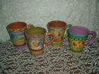 SANGO TUSCAN GARDENS COFFEE MUG SET OF 4   WONDERFUL CONDITION
