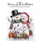 Wild Rose Studio Clear Stamp New Christmas 2016 Snowman Family CL496