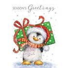 Wild Rose Studio Clear Stamp New Christmas 2016 Penguin with Present CL498