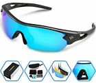 Torege Sports Sunglasses Polarized Glasses For Cycling Running Fishing Golf and