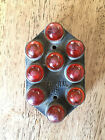 Vintage Federal 95 Red Glass Marble Reflector Automotive Car Truck