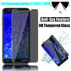Anti Spy Privacy Tempered Glass Screen Protector for Samsung Galaxy J7 2017 2016