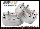 5x55 TO 6x55 CONVERSION WHEEL SPACERS ADAPTERS 2 THICK 14x15 THREAD PITCH
