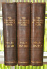 3 Antique 1st Ed Leather bound Standard Reference Books Illstr Americana 1913
