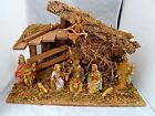 Vintage Italy Christmas Nativity Creche Stable Manger Baby Jesus Birth Fontanini