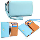 Universal Wallet Cover Case Clutch Style for HTC Huawei Icemobile Karbonn