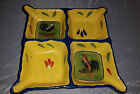 Style Eyes Baum Bros Provence Rooster Collection 4-way divided dish