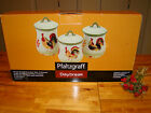 NEW PFALTZGRAFF DAYBREAK ROOSTER CANISTER SET W/ LIDS 6 PIECES BEAUTIFUL