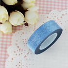 New 10m Glitter Washi Sticky Paper Masking Adhesive Tape Diy Craft Decorative