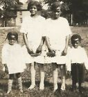 Antique African American Family Of Children Old Photo Black Americana