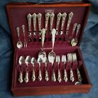 *HERITAGE SERVICE FOR 8, 62 PCS! VINTAGE 1847 ROGERS SILVERPLATE SET:FREE SHIP!*