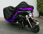 XXXL Purple Motorcycle Cover Waterproof For Harley Davidson Street Glide Touring
