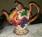 FITZ & FLOYD AUTUMN BOUNTY QUAIL TEAPOT NEVER USED