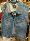 G STAR RAW WMN VINTAGE NIPON DENIM JEANS JACKET BLUE VEST SIZE S SMALL