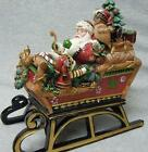 Fitz and Floyd Christmas Lodge Sleigh Musical ~ DISCONTINUED ~ New In Box
