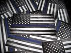 Thin Blue Line Sticker Tattered American Flag Back The Blue Decal POLICE LIVES