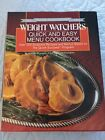 Weight Watchers Quick and Easy Menu Cookbook 1963 1988 Silver Edition