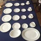 Waterford China Crosshaven Platinum 4 Place settings plus Platter and Bowl