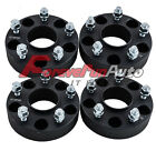 4PC 15 5x5 Black Hub Wheel Spacers Adapters 1 2x20 Studs for Jeep JK Wrangler