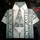 Money Origami a Dollar Bill folded Polo Shirt with Tie paper folding